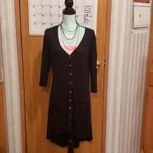 Maurices Large Black High Low Tunic